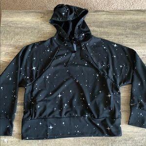 Nike Dri-fit silver star black hoodie